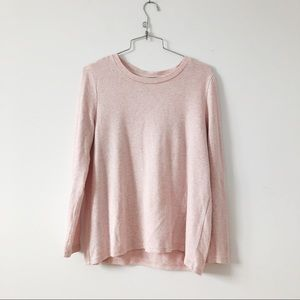 Only baby pink long sleeves sweater